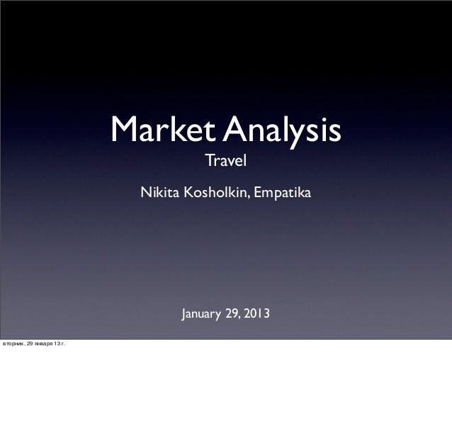 Market Analysis                                      Travel                            Nikita Kosholkin, Empatika         ...