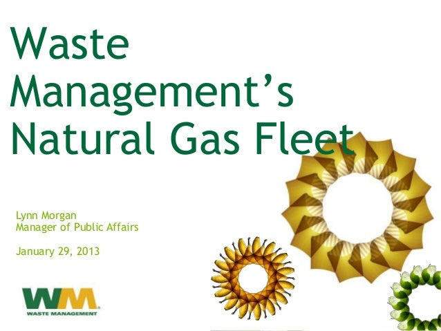 WasteManagement'sNatural Gas FleetLynn MorganManager of Public AffairsJanuary 29, 2013