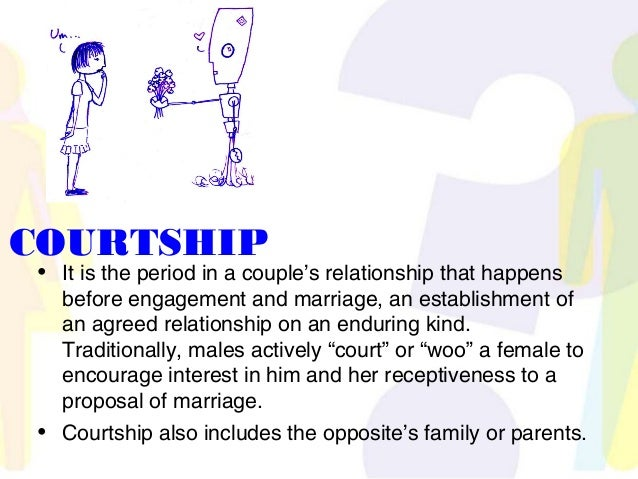 Difference between marriage and courtship