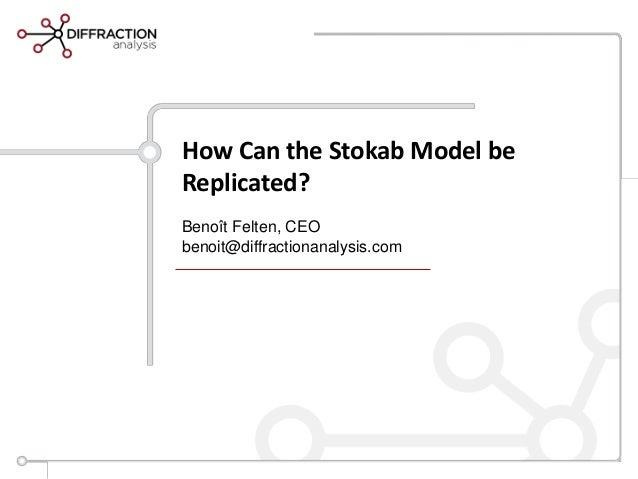 How Can the Stokab Model beReplicated?Benoît Felten, CEObenoit@diffractionanalysis.com