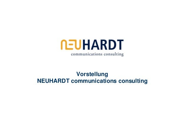 VorstellungNEUHARDT communications consulting