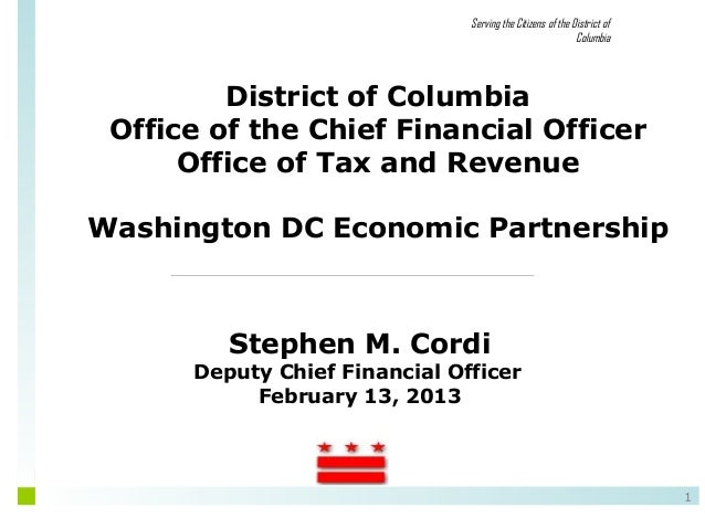 Serving the Citizens of the District of                                                            Columbia         Distri...