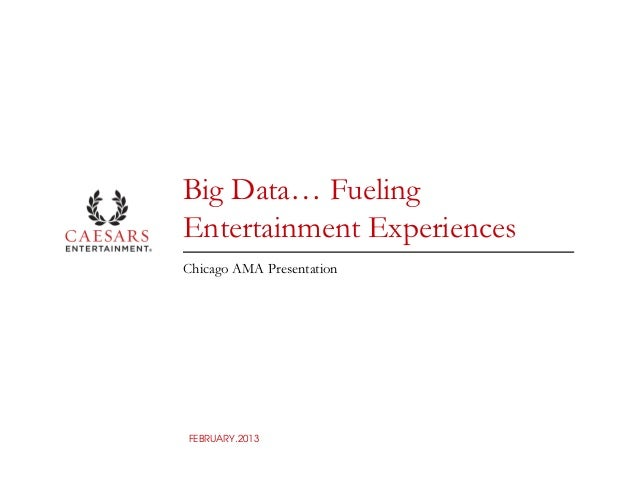 Big Data… FuelingEntertainment ExperiencesChicago AMA PresentationFEBRUARY.2013