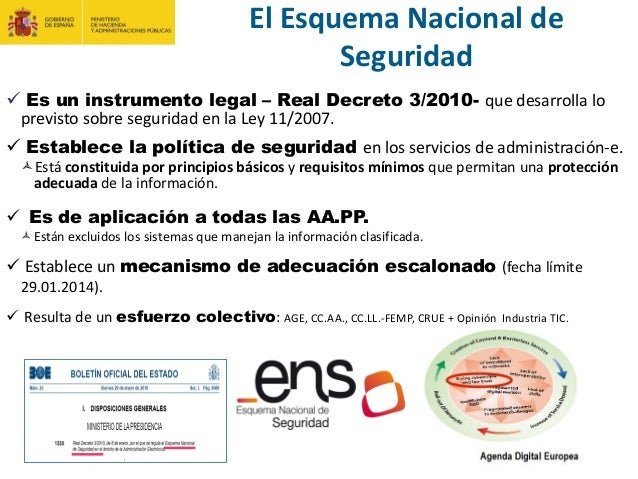 La adecuación al ENS, situación actual y evolución del RD 3/2010 Slide 3