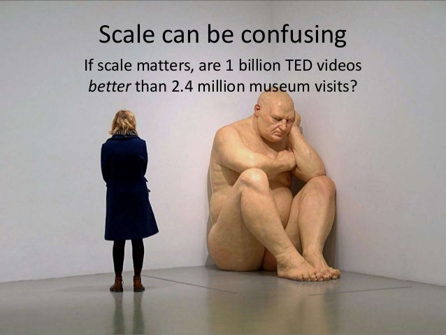 Not necessarily, but the vast differencein scale is evidence that somethingsignificant—worth studying—is going on   There ...