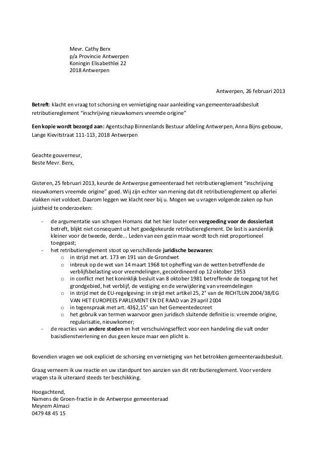 Mevr. Cathy Berx               p/a Provincie Antwerpen               Koningin Elisabethlei 22               2018 Antwerpen...