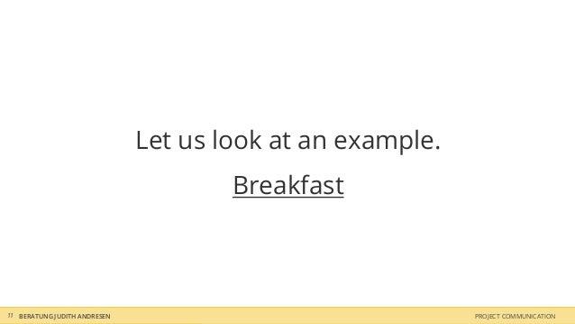 Let us look at an example.                                      Breakfast11 BERATUNG JUDITH ANDRESEN                      ...