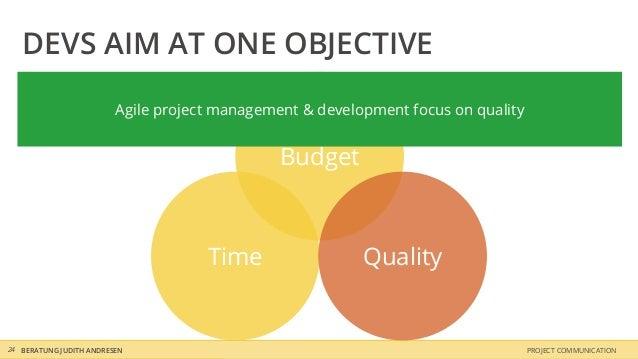 DEVS AIM AT ONE OBJECTIVE                         Agile project management & development focus on quality                 ...