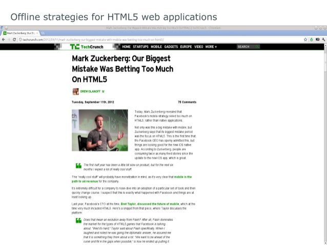 Offline strategies for HTML5 web applications App Cache Scripting //Checkifanewcacheisavailableonpageload. windo...