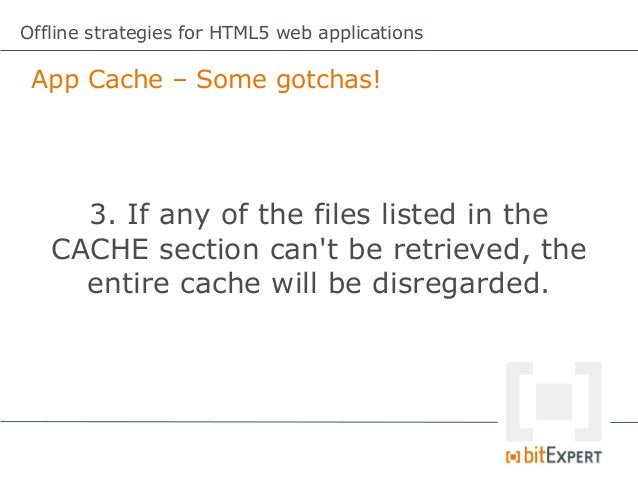 Offline strategies for HTML5 web applications Storing dynamic data locally (in HTML5)