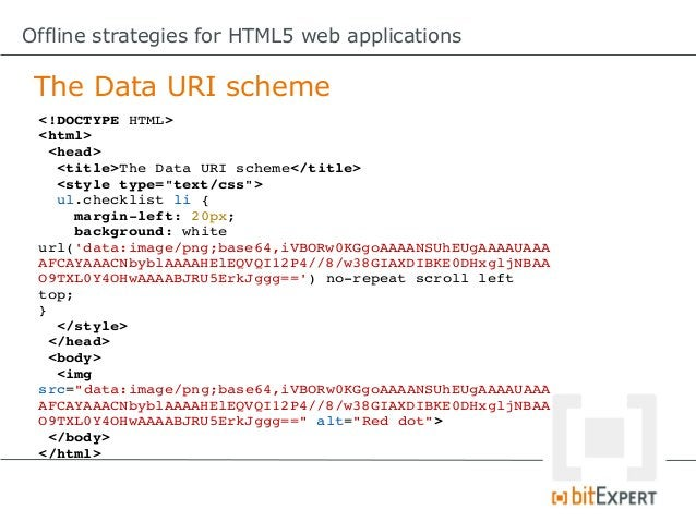 Offline strategies for HTML5 web applications Web Storage: Remove item functionremove(id){     try{          localStor...