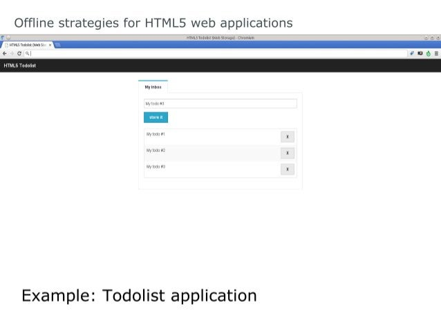 Offline strategies for HTML5 web applications Web Storage: What about sessionStorage?