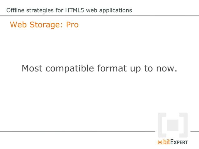 Offline strategies for HTML5 web applications Web SQL Database: Remove item functionremove(id){     db.transaction(funct...
