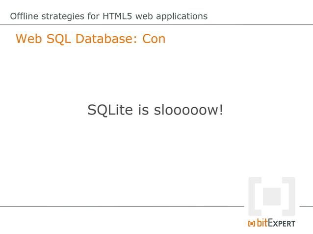Offline strategies for HTML5 web applications File API