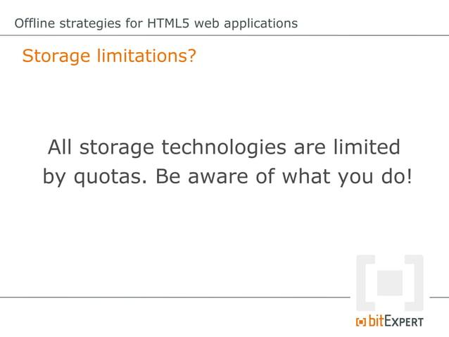 Offline strategies for HTML5 web applications - ConFoo13