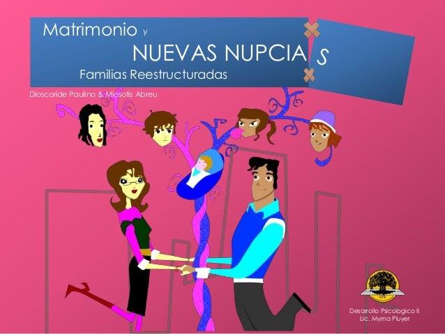 Matrimonio NUEVAS NUPCIA Familias Reestructuradas y Dioscoride Paulino & Miosotis Abreu Desarrollo Psicologico II Lic. Myr...