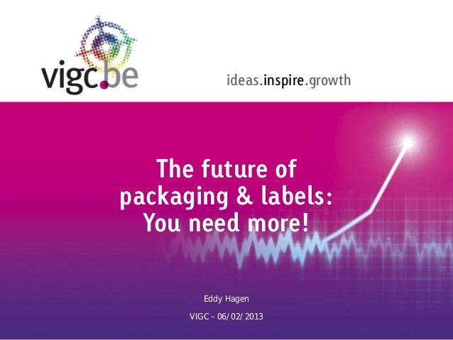 ideas.inspire.growth   The future ofpackaging & labels:  You need more!         Eddy Hagen      VIGC – 06/02/2013