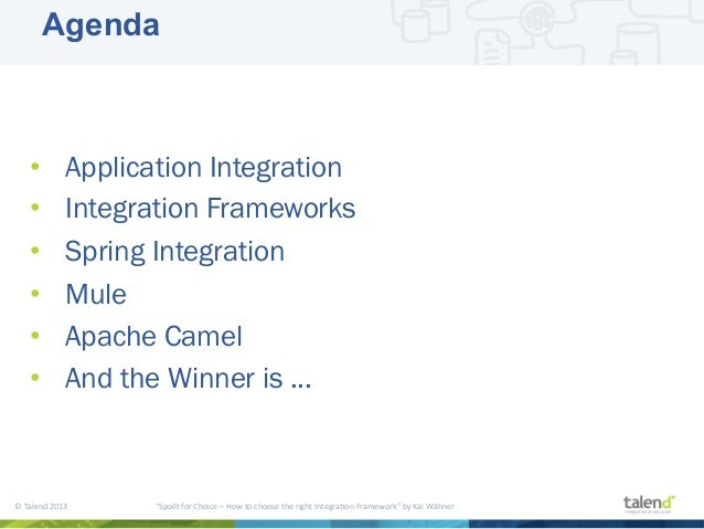 Scandev / SDC2013 - Spoilt for Choice: Which Integration