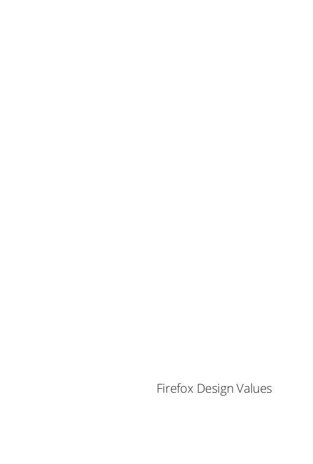 Firefox Design Values