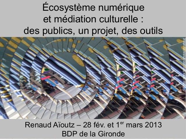 Écosystème numérique    et médiation culturelle :des publics, un projet, des outils                                       ...