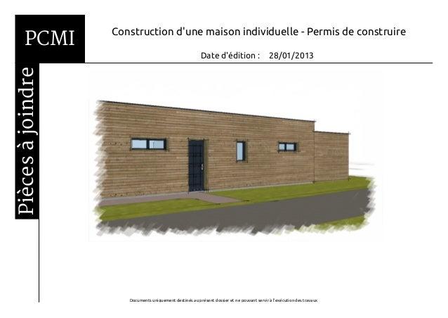 PCMI         Construction dune maison individuelle - Permis de construire                                                 ...