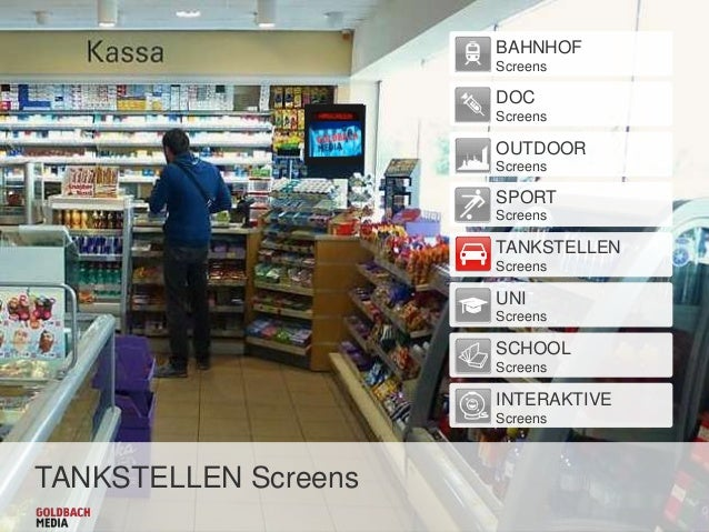BAHNHOF Screens  DOC Screens  OUTDOOR Screens  SPORT Screens  TANKSTELLEN Screens  UNI Screens  SCHOOL Screens  INTERAKTIV...