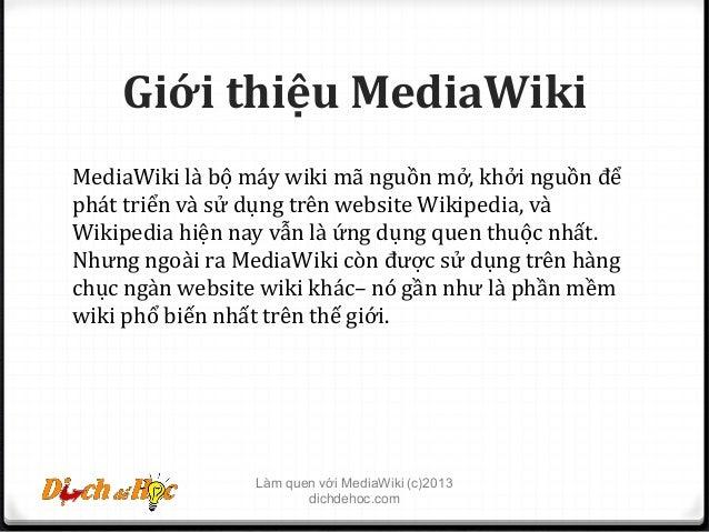 Lam quen MediaWiki phan 1 Slide 2