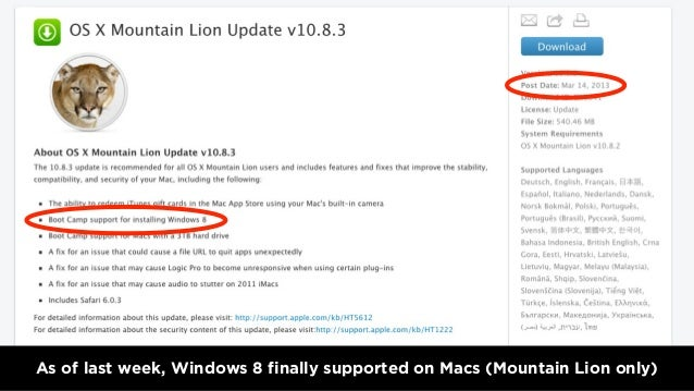 As of last week, Windows 8 finally supported on Macs (Mountain Lion only)3.18.2013 - WWW.QUBOP.COM