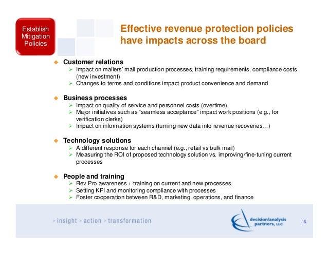 Establish                         Effective revenue protection policiesMitigationPolicies                          have im...