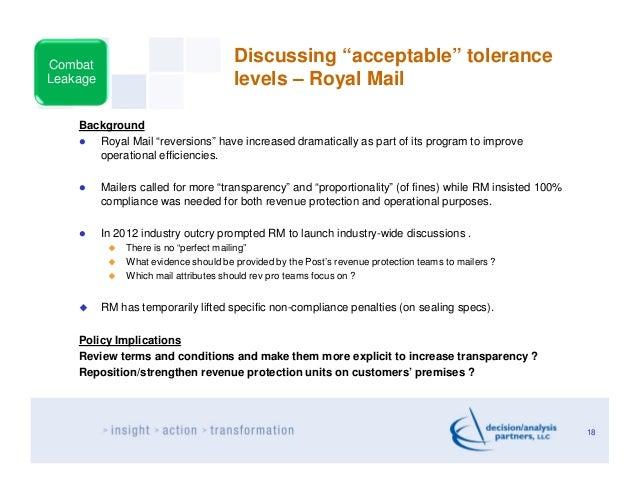 "Combat                                       Discussing ""acceptable"" toleranceLeakage                                level..."