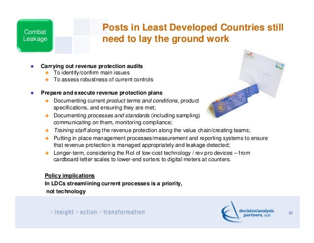 Combat                             Posts in Least Developed Countries stillLeakage                      need to lay the gr...