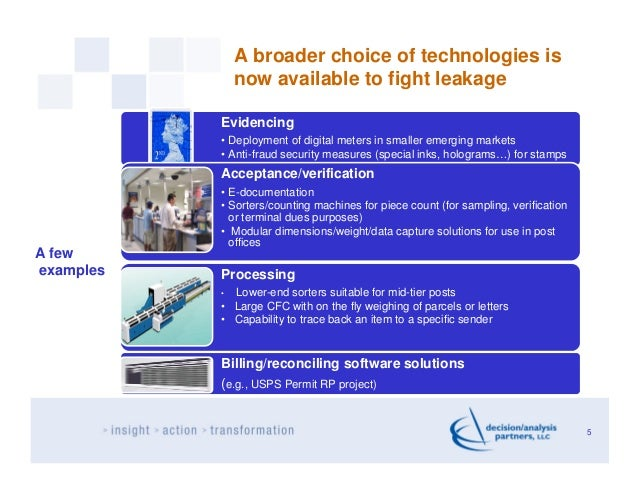 A broader choice of technologies is               now available to fight leakage           Evidencing           • Deployme...