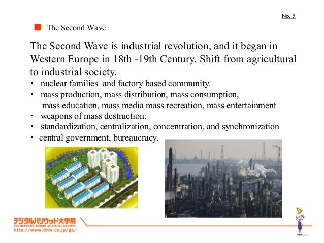 No.5■ The Second WaveThe Second Wave is industrial revolution, and it began inWestern Europe in 18th -19th Century. Shift ...