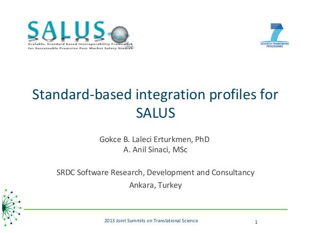 Standard-based integration profiles for               SALUS              Gokce B. Laleci Erturkmen, PhD                   ...