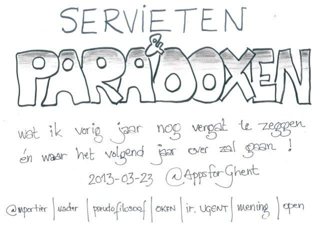 AppsForGhent3 :: Servieten en Paradoxen