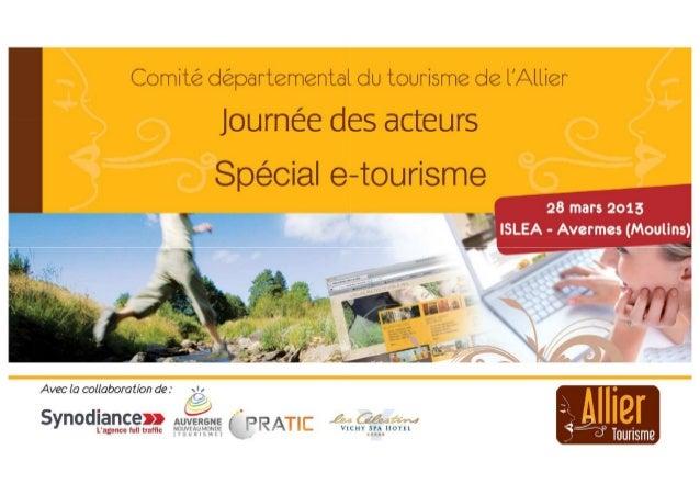 Synodiance pour cdt allier - journée des acteurs e tourisme - ateliers