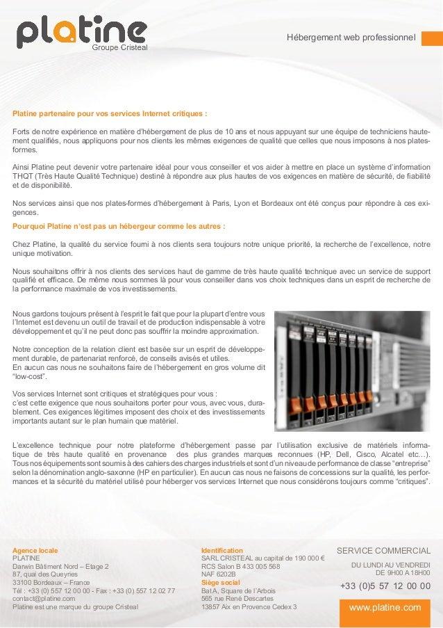 Hébergement web professionnel - plaquette commerciale Slide 2