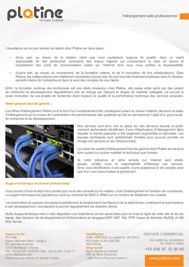 Hébergement web professionnel - plaquette commerciale Slide 3