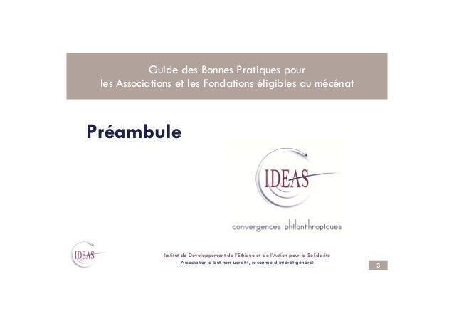 2013 Guide IDEAS des bonnes pratiques Slide 3