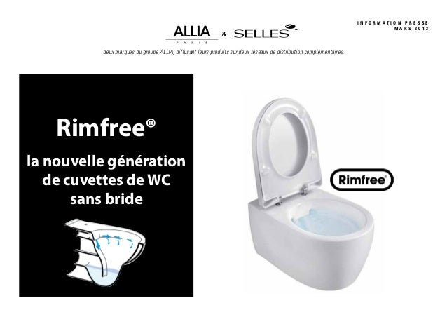 dossier de presse innovation wc sans bride rimfree par allia. Black Bedroom Furniture Sets. Home Design Ideas