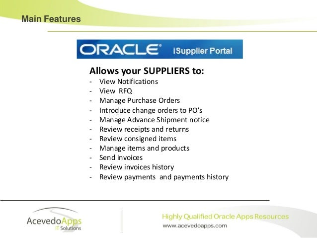 product analysis oracle isupplier portal oracle e business suite rh slideshare net Oracle R12 Quick oracle isupplier portal implementation guide r12