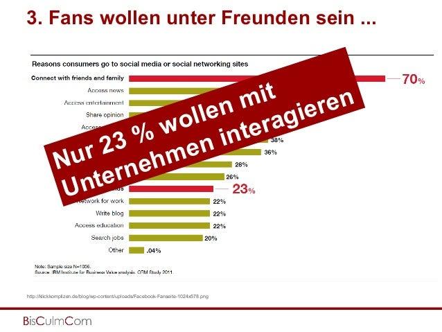 3. Fans wollen unter Freunden sein ... http://klickkomplizen.de/blog/wp-content/uploads/Facebook-Fanseite-1024x578.png Nur...