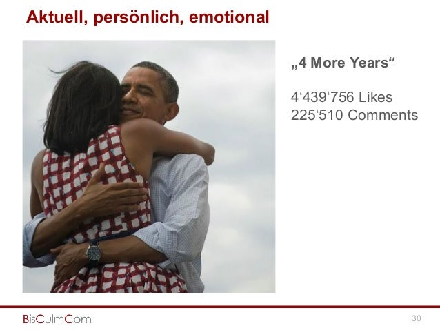 """Aktuell, persönlich, emotional 30 """"4 More Years"""" 4'439'756 Likes 225'510 Comments"""