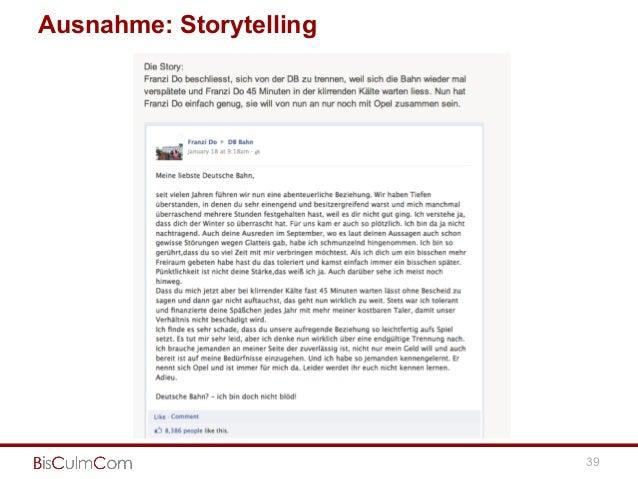 Ausnahme: Storytelling 39