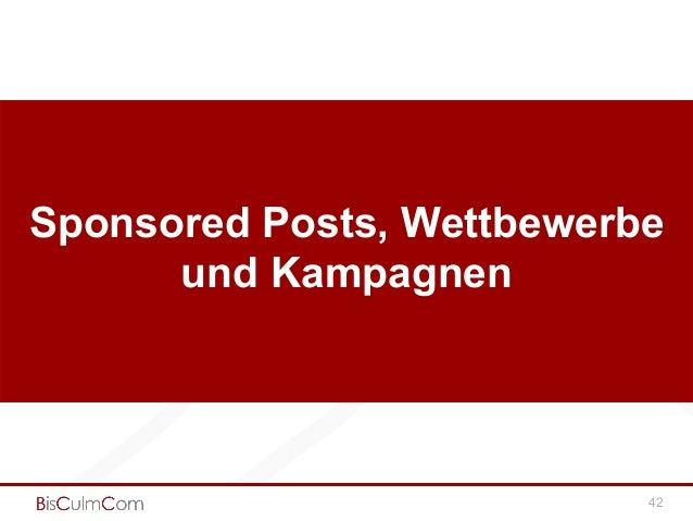 Sponsored Posts, Wettbewerbe und Kampagnen 42