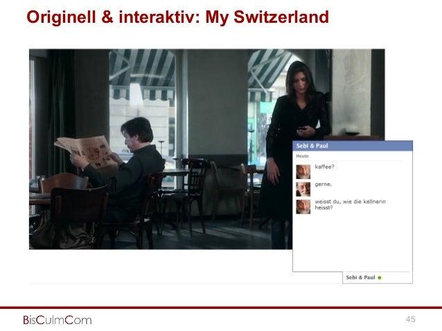 Originell & interaktiv: My Switzerland 45