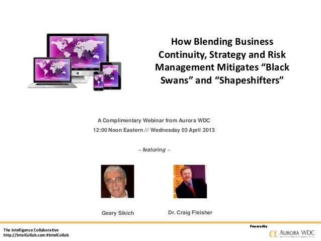 How Blending Business                                                               Continuity, Strategy and Risk         ...