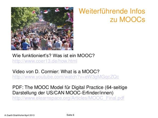 Weiterführende Infos                                                              zu MOOCs                                ...