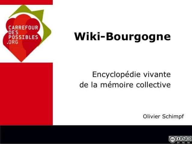 Presentation de Wiki-Bourgogne