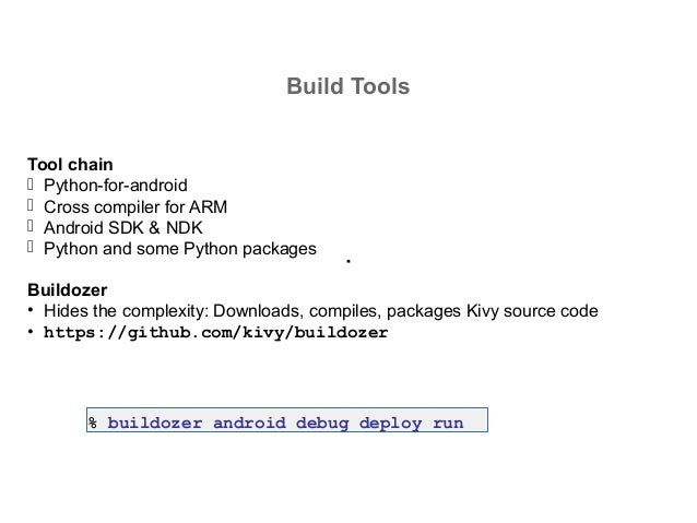 Developing apps with Kivy